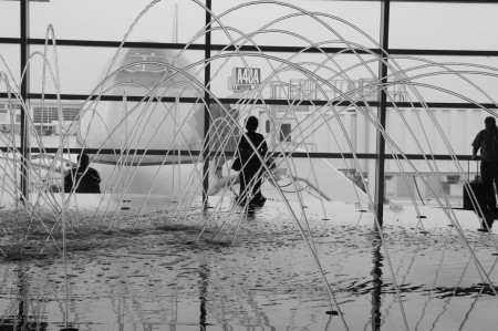 Larrabee, Detroit International Airport, water fountain, Portrait Photographer