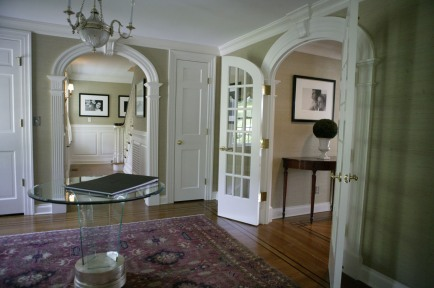 Larrabee, Portrait Photographer, Entry Foyer, Layout, Installation, Black & White Photography