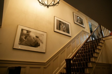 Larrabee, Portrait Photographer, Front Entry Staircase, Layout, Installation, Black & White Photography