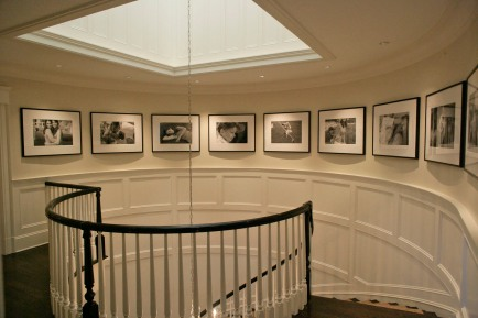 Larrabee, Portrait Photographer, Grand Circular Staircase, Layout, Installation, Black & White Photography