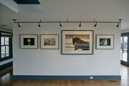 Larrabee, Portrait Photographer, Foyer Entry, Layout, Installation, Black & White Photography