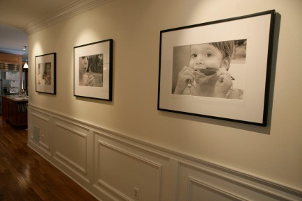 Larrabee, Portrait Photographer, Hallway, Layout, Installation, Black & White Photography