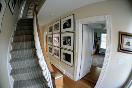 Larrabee, Portrait Photographer, Stairwell, Layout, Installation, Black & White Photography
